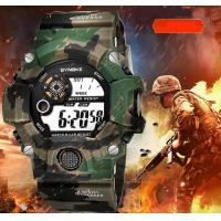 Quality Wholesale Synoke Men Camouflage Green Multifunction Chronograph Alarm 3 ATM for sale