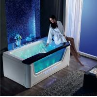 China Hot Sale Jetted bathtubs jet whirlpool bathtub indoor luxury  massage whirlpool bathtub with waterfall on sale