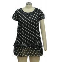 100% Polyester Women'S Chiffon Dresses , Classic Black And White Party Dresses