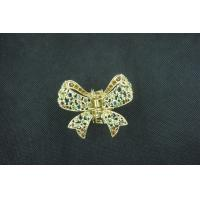 China Alloy Copper Crystal Jeweled Hair Accessories Butterfly Hairpin Jewelry for Gift wholesale