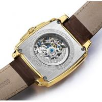 Quality Wholesale Megir Fashion Men Genuine Leather Strap Full Automatic Hollowing for sale
