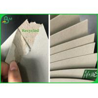 China 100% Recycled Grey Chipboard 1mm 1.8mm Grey Carton Board For Making Folder wholesale