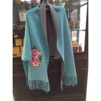Buy cheap 70%cashmere 30%wool weaving cashmere embroidary  scarf from wholesalers