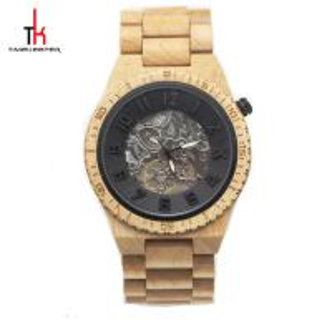 China OEM ODM Waterproof Wood Watch / Luxury Wooden Mechanical Watch on sale