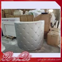China Reception Desk Beauty Salon Counter Reception Vintage Front Desk Reception Counter Leather wholesale