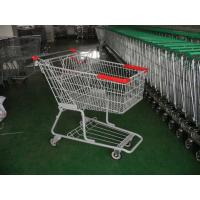 Quality Double Bearing Casters Supermarket Shopping Carts with baby seat for sale