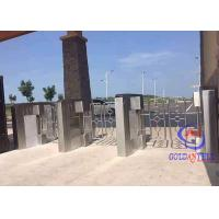 China Non Touching Swing Barrier Gate Stainless Steel 35 Persons Per Min Running Rate wholesale