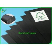 China 100% Recycled Black Core One Side Coated Black 250g Kraft Paper wholesale