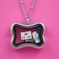 China 2014 Latest Stailess Steel Square Shape Floating Charms Locket wholesale