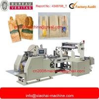 China Sharp Bottom Bread Paper Bag Making Machines With Window With 160 - 650MM Length wholesale