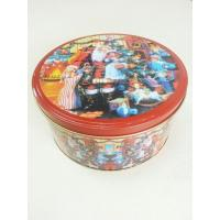 China Christmas Cookie Tin Storage Containers , Food Storage Cylindroid Small Tin Boxes wholesale