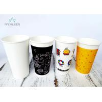 China Solid Black Latte Cups , To Go Coffee Cups Small / Large Branded wholesale