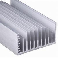 China Clear Anodized 6063-T5 Aluminum LED Heat Sink Extrusion Profiles With Tapping , Stamping wholesale
