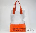 Vinyl Transparent PVC Gusset Bag Plastic Tote Shopping Bag For Packaging TPU