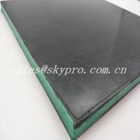 China Wear - Resisting 30mm Black + Green + Black Sandwich Skirting Rubber Sheet Panel wholesale