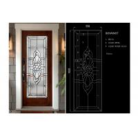 China Arctic Patterned Window Door Suit Decorative Frosted Glass Brass / Nickel / Patina wholesale
