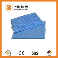 China Blue Wave Printed Foam Bonding Viscose Rayon Nonwoven Wiping Cloth for Home / Hotel wholesale