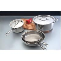 China 28CM 3 Layers Stainless Steel Cooking Pans With SS Flat Cover wholesale