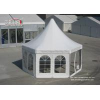 China Mini Luxury Pagoda High Peak Outdoor Tent with PVC window Sidwalls for Party wholesale