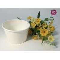 China 7oz 170ml Food Grade Disposable Ice Cream Cups In Plain White wholesale