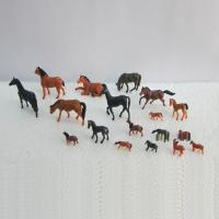 China 1:150 color horse,model animal,model horse,model material,HO animal,painted horse,colorful horses wholesale