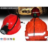 China High Power Miners Cap Lamp With Rear Warning Light 15000 Lux Brightness wholesale