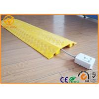 light duty indoor plastic floor cable cover cord protector yellow black of trafficsafetyequipment. Black Bedroom Furniture Sets. Home Design Ideas