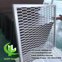 China Metal Aluminum expanded mesh screen for facade both powder coated wholesale