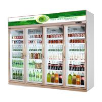 China Energy Saving Four Doors Upright Commercial Beverage Cooler For Convenient Store wholesale