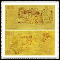 China  Old 50 AUD Bill Pure Gold Banknote Golden Craft For Currency Collectors  for sale