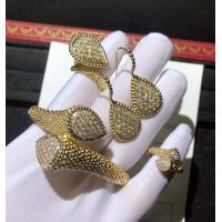 China 18K Gold Diamond Bracelet / Ring / Earrings For Wedding Anniversary brand jewelry stores wholesale