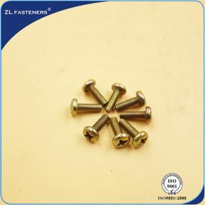 China Yellow Zinc Coated Stainless Steel Machine Screws C45 / C46 / C20 Material wholesale