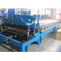China Metal Glazed Tile Roll Forming Machine , Corrugated Roofing Sheet Making Machine wholesale