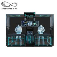 China Exciting Multiplayer VR Standing Platform 9D VR Machine Black Color wholesale