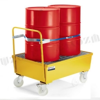 Mobile 100mm height drum spill containment sump tray for 60 / 200 L drums
