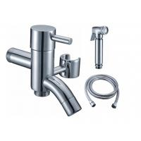 China Two Ways Bib Cock With Arab Brass Shower And 1.2M Stainless Steel Hose wholesale