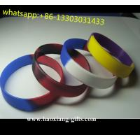 China silicone Material and Printed Technique silicone allergy bracelet/silicone wristband wholesale