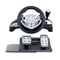 Wholesale multi-interface gaming racing wheel steering wheel with foot pedal forPC (Direct-X & X-INPUT) /PS3 /PS4 from china suppliers