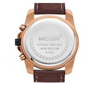 Quality Wholesale MEIGIR Men Fashion Genuine Leather Strap Multifunction Chronograph for sale