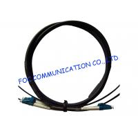 China FTTA Fiber Optic Patch Cable LC 2 Core With Armored Tube High Tensile Strength wholesale