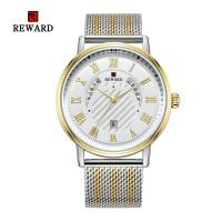 Buy cheap Mesh Strap Mens Watches Quartz Stainless Steel Mineral Crystal Glass With Date from wholesalers