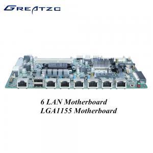 China I3 I5 I7 CPU 6 LAN Motherboard , LGA1155 Socket Firewall Appliance Intel Gigabit wholesale