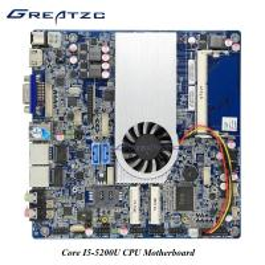 China Intel I5 - 5200U Dual Lan Motherboard With INTEL HD5500 GPU 2 SATA DC 12V - 19V Mainboard wholesale