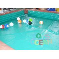 Quality Adults Inflatable Interactive Games Inflatable Table Snooker Pool Game With No.5 Balls for sale