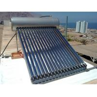 China Compact Pressurized Solar Water Heater , 18pcs heat pipe solar water heaters wholesale
