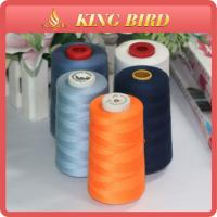 China Orange Eco - Friendly Spun Sewing Machine Embroidery Thread High Temperature Resistant wholesale