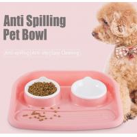 China Non Slip Plastic Feeding Dishes No Spill Pet Dog Cat Double Food Water Bowl For Cat Dog, Premium Colorful Dog Water Food wholesale