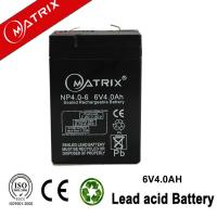 China MATRIX 6v 4ah sealed lead acid battery wholesale