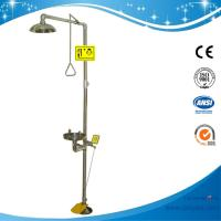 China SH712BSF-Foot pedal SUS304 Safety shower & eyewash station,SS304 emergency shower Eyewash on sale