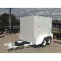 China 10x5 Fully Enclosed Tandem Trailer , Single Axle Enclosed Trailer With Brakes & Ramp on sale